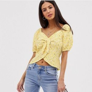 River Island Disty Floral Top